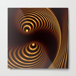 Abstract in copper tones Metal Print