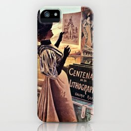 1895 Paris Centennial of Lithography iPhone Case