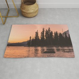 Forest Island at the Lake - Nature Photography Rug