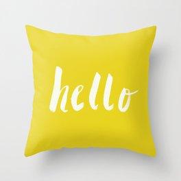 Hello x Sunshine Script Throw Pillow