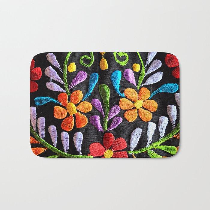 Mexican Flowers Bath Mat
