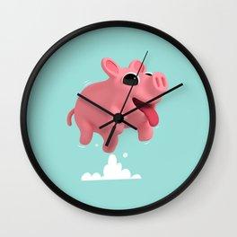 Rosa the Pig Jumps Wall Clock