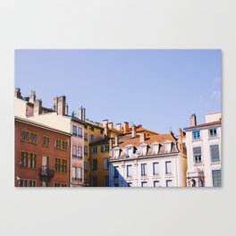 Roofs of Lyon Canvas Print