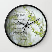 les miserables Wall Clocks featuring Les Miserables Love by KimberosePhotography