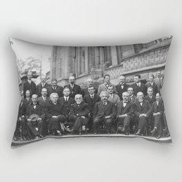 1927 Solvay Conference on Quantum Mechanics Rectangular Pillow