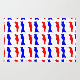 Flag of France 4- France, Français,française, French,romantic,love,gastronomy Rug