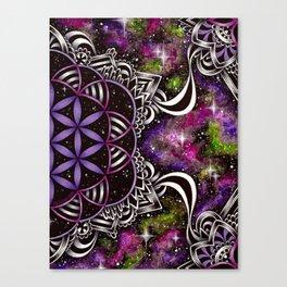 Flower of Life - purple Canvas Print