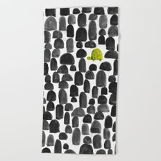 Turtle in Stone Garden Beach Towel