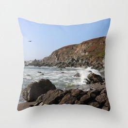 Bodega Bay Beach, Sonoma County, California Throw Pillow