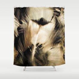 Pheasant Feather Portrait Shower Curtain