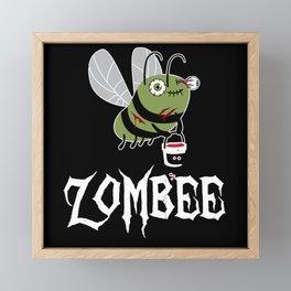 Zombie Zombee Zombie Apocalypse Halloween Costume Framed Mini Art Print