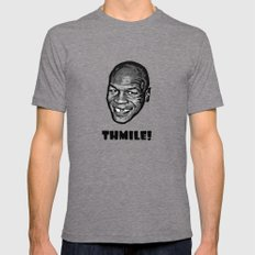 MIKE TYSON  |  THMILE! Tri-Grey Mens Fitted Tee LARGE