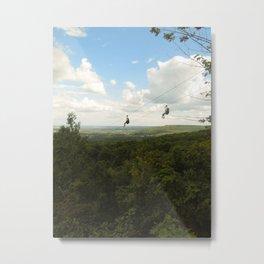 Summer Zipline Metal Print