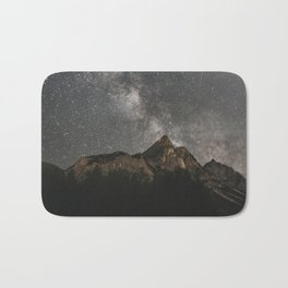 Milky Way Over Mountains - Landscape Photography Bath Mat