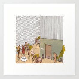 Ability to see farts Art Print