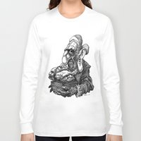 bread Long Sleeve T-shirts featuring Bread Heads by PRESTOONS / Art by Dennis Preston