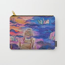 Space Clouds Crystals Carry-All Pouch