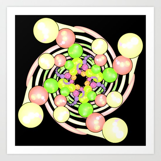 Molecular Growth in Abstract Art Print