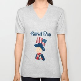 US flag held high for those who died - Patriot Day - September 11 Unisex V-Neck