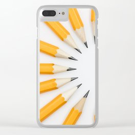 Pencil circle Clear iPhone Case
