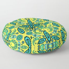 abstract seamless floral pattern exotic shapes Floor Pillow