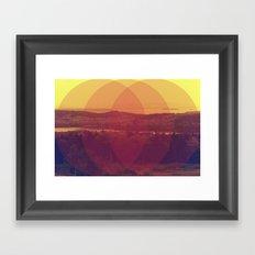 Meet Me Framed Art Print