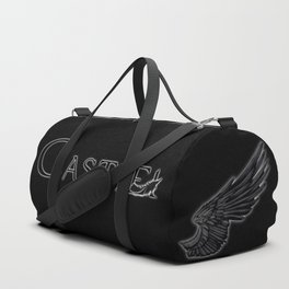Castiel with Feather Black Duffle Bag