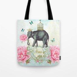 Paris Elephant Tote Bag