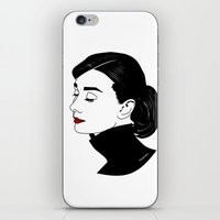 audrey hepburn iPhone & iPod Skins featuring Audrey Hepburn  by Pendientera