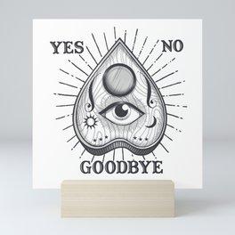 Yes No Goodbye Magic Ouija Vintage Planchette Design Mini Art Print
