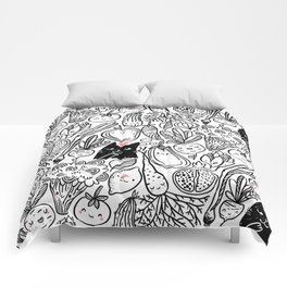 Funny Vegetables Comforters