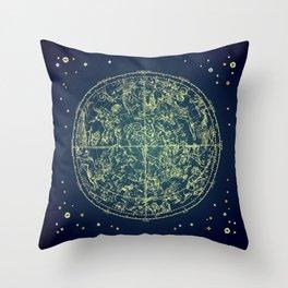 Zodiac Star Map Throw Pillow