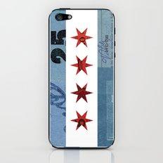 Ephemeral Chicago Flag iPhone & iPod Skin