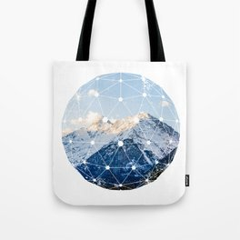 The Glowing Alps Globe Tote Bag