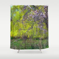 monet Shower Curtains featuring influence: monet by EnglishRose23