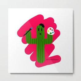 Artist Cactus Metal Print