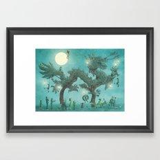 The Night Gardener - Dragon Tree night option  Framed Art Print