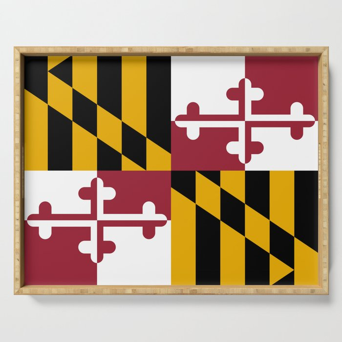 State flag of Flag Maryland Serving Tray