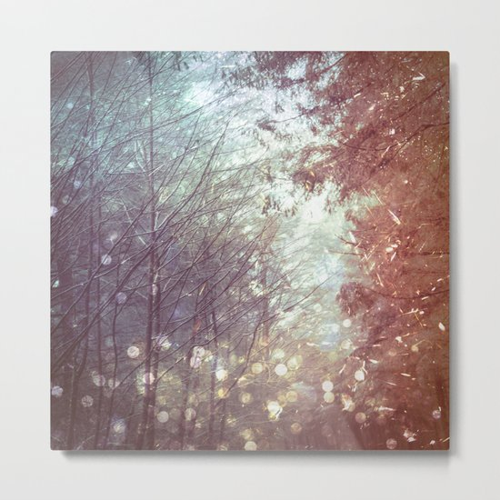 Magical Firefly Forest Metal Print