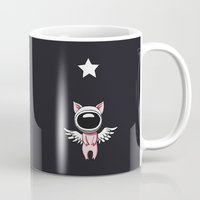 piglet Mugs featuring Piglet in Space by Freeminds