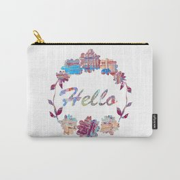 Hello Wreath Carry-All Pouch