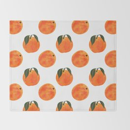Peach Harvest Throw Blanket