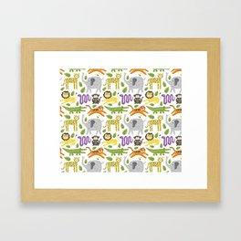 Kids Jungle Design Framed Art Print