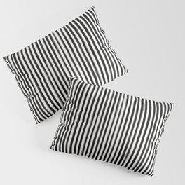 Skinny Stroke Vertical Black on Off White Pillow Sham