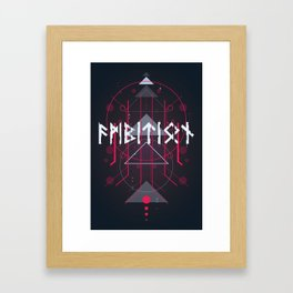 Runic™ Ambition | Runes Inscription Framed Art Print