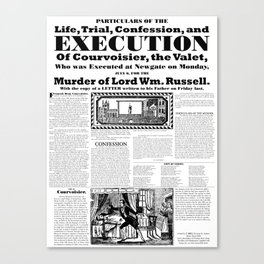 Trial and execution of Courvoisier Canvas Print