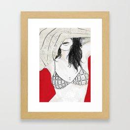 Let me think Framed Art Print