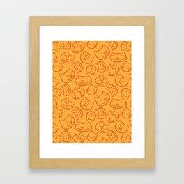 cat lady pattern Framed Art Print