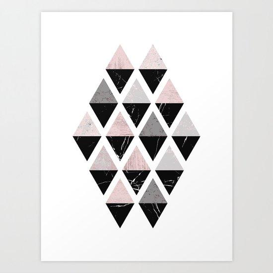 Diamonds modern art Art Print