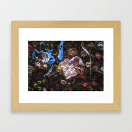 Hubba Bubba Bubblegum Alley San Luis Obispo Framed Art Print